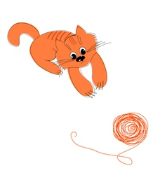 cat and wool vector image vector image