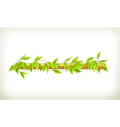 Foliage banner vector image vector image