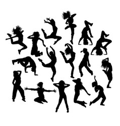 fun hip hop expression vector image vector image