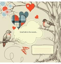 love birds talk vector image vector image