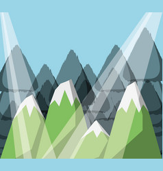 mountain landscape with forest and rocks vector image vector image