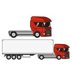 two trucks vector image