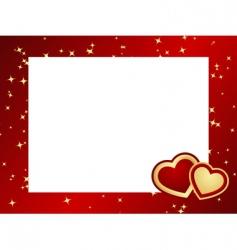 valentines frame background vector image vector image