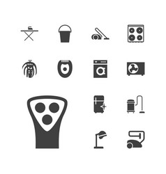 13 appliance icons vector