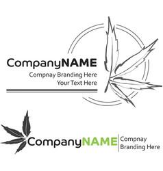2 cannabis Logos vector image