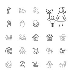 22 family icons vector