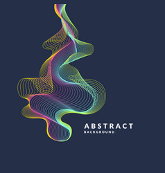 abstract background with a dynamic waves lines in vector image