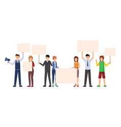 Activism meeting protest action flat vector
