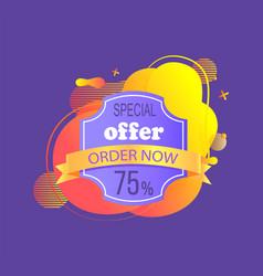 advertising label 75 percent discount vector image