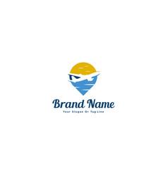 Aircraft logos and pins for travel industry vector