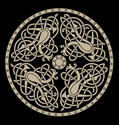 Ancient celtic mythological symbol of bird celtic vector