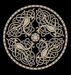 ancient celtic mythological symbol of bird celtic vector image
