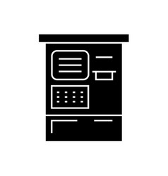atm machine black concept icon atm machine vector image