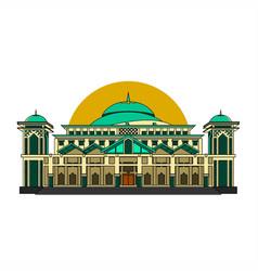 Bangka belitung capital mosque vector