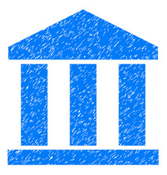Bank building grunge icon vector