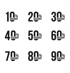 black discount announcements set with sale vector image