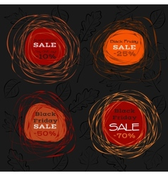 black friday sale abstract frames vector image