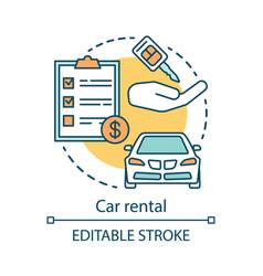 Car rental concept icon automobile rent leasing vector