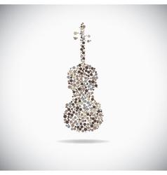 Cello consist of dots vector