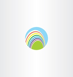 Circle rainbow logo sign vector