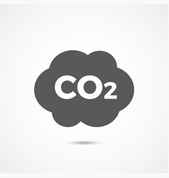 Co2 icon on white vector
