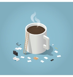 Coffee time at work vector