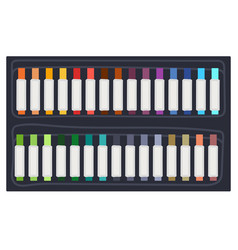 colorful permanent markers or highlighters vector image