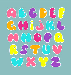 Cute hand drawn alphabet funny comics font vector