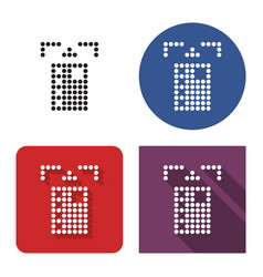 dotted icon atm card slot in four variants vector image