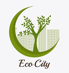 Ecology digital design vector image