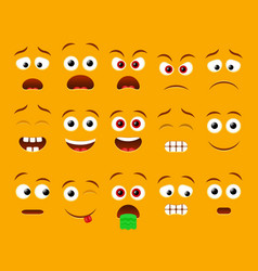 Emoji faces for emoticon constructor vector