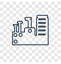 factory concept linear icon isolated on vector image