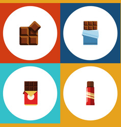 flat icon sweet set of bitter chocolate bar vector image