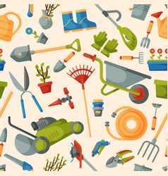 garden tool gardening equipment rake or vector image