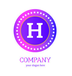 h letter logo design h icon colorful and modern vector image