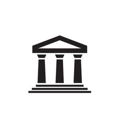 House build architecture - black icon on white vector