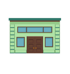 icon of a stylish building facade with a large vector image