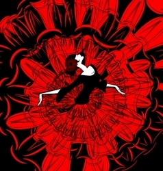 image of dancer in red-black vector image