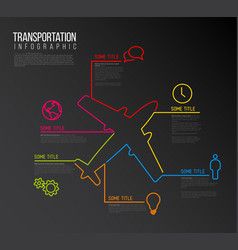 infographic report template made from lines and vector image