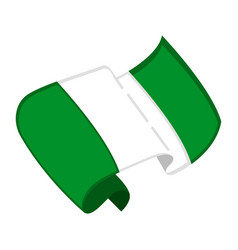 Isolated flag of nigeria vector