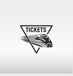 Isolated monochrome modern gravure style train in vector