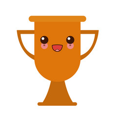 Kawaii trophy school award celebration object vector