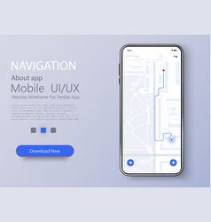 material design ui ux screen flat web icons vector image