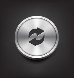 Metal arrows icon vector