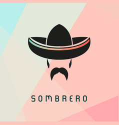 mexican man wearing sombrero vector image