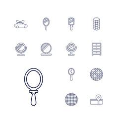 Mirror icons vector