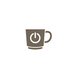 mug with on and off symbol a cup icon for logo vector image