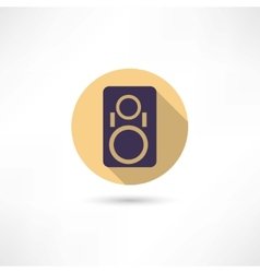 music column icon vector image