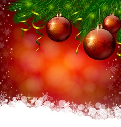 New Year and christmas red background vector image