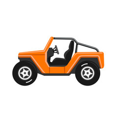 off-road vehicle isolated on white background vector image